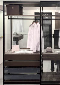 Aluminum profiles to realize wardrobes with aluminum structure