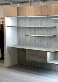 Aluminium profile to realize walk-in wardrobes and living solution