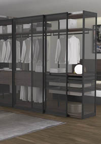 New system of aluminium sliding door frames for wardrobes