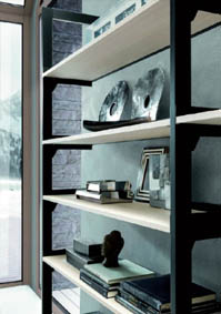 Aluminum profile to realize walk-in closet and living solutions