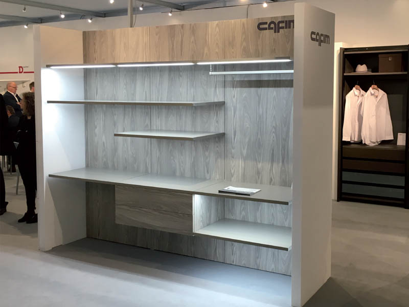 New products Polar. rack system of aluminum profile useful to realize walk-in closet