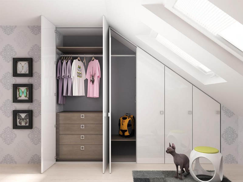 Kali 4. Aluminum profile to realize space-saver wardrobes.