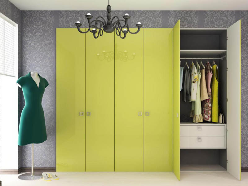 Aluminum profile to realize space-saver wardrobes